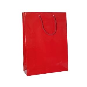 Darčeková papierová taška HANKA, 24 x 9 x 35 cm, červená