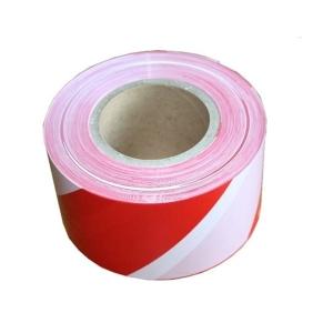 Nelepiaca vytyčovacia páska Stepa®, 80 mm x 200 m, biela/červená