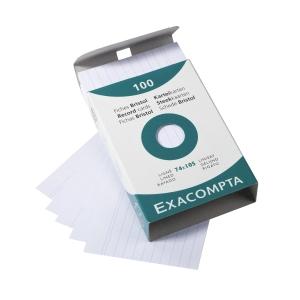 Lístky Exacompta do kartotéky A7, linajkové