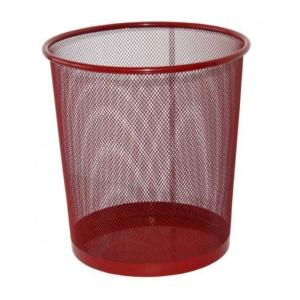 Drôtený odpadkový kôš SaKOTA 18 l, červený