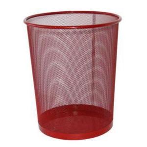 Drôtený odpadkový kôš SaKOTA 10 l, červený