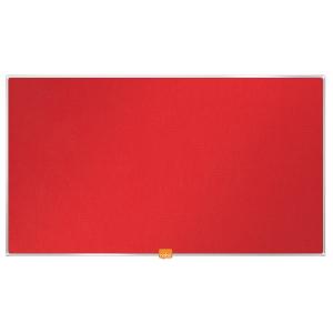 Širokouhlá textilná nástenka Nobo, uhlopriečka 32 palcov, červená