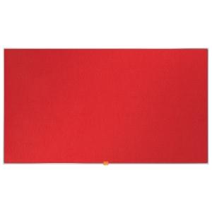 Širokouhlá textilná nástenka Nobo, uhlopriečka 50 palcov, červená