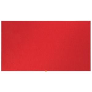 Širokouhlá textilná nástenka Nobo, uhlopriečka 85 palcov, červená