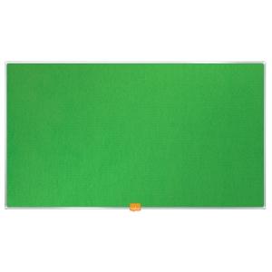 Širokouhlá textilná nástenka Nobo, uhlopriečka 85 palcov, zelená