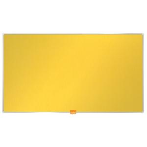 Textilná nástenka Nobo, širokouhlá, 40 , žltá