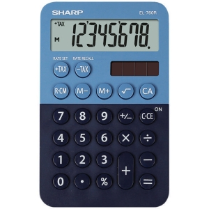 SHARP EL760R vrecková kalkulačka, modrá