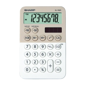SHARP EL760R vrecková kalkulačka, latte-biela