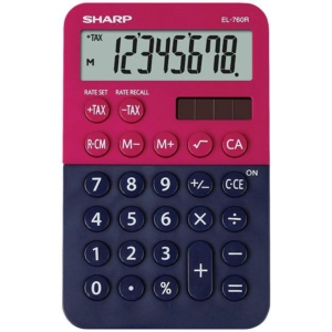 SHARP EL760R vrecková kalkulačka, červeno-modrá