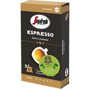 Segafredo Espresso kompostovateľné kapsule, 10 ks