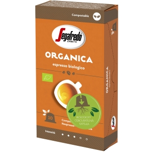 Segafredo Organica kompostovateľné kapsule, 10 ks