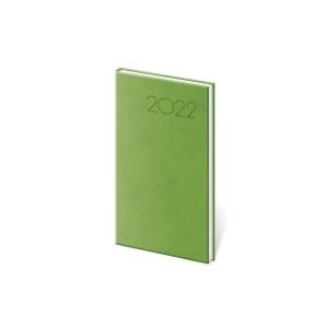 Diár týždenný vreckový Print - svetlo zelený, 8 x15 cm, 128 strán