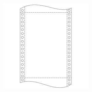 Papier do ihličkových tlačiarní, 54 g/m², 24 x 30,5 cm, 1+1 vrstva