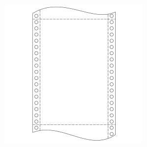 Papier do ihličkových tlačiarní, 54 g/m², 24 x 30,5 cm, 1+3, 500 zložiek