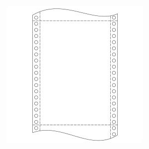 Papier do ihličkových tlačiarní, 60 g/m², 25x30,5 cm, 1+0 vrstiev