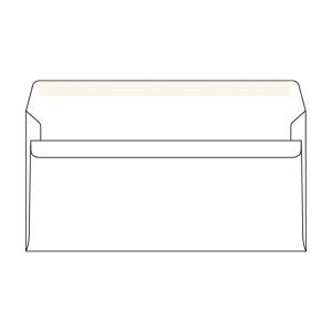 Obálky samolepiace biele DL s oknom vpravo (110 x 220 mm), 1000 ks/balenie