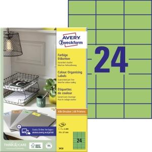 Avery 3450 univerzálne etikety 70x37 mm zelené