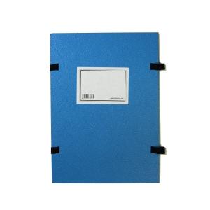 Spisové dosky so šnúrkami + etiketa Hit Office A4 modré, balenie 25 kusov