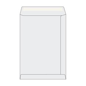 Tašky jednoduché biele recykl. C4 (229 x 324 mm), 50 kusov/balenie