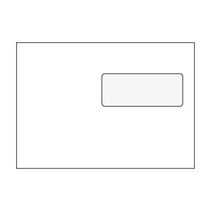 Obálky samolepiace biele C5 (162 x 229 mm), okno vpravo hore, 50 kusov/balenie