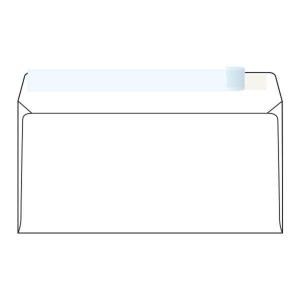 Obálky samolepiace biele DL (110 x 220 mm), 50 kusov/balenie