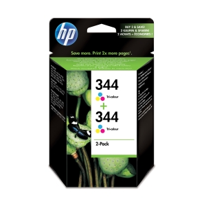 Hewlett Packard 344 C9505E Inkjet Cartridge 3 Colour - Pack Of 2