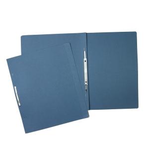 Nezávesné 1/1 rýchloviazače ekonomik HIT A4 modré 200g, balenie 100 kusov