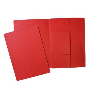 Odkladacia mapa s 3 chlopňami HIT A4 červená, balenie 20 kusov