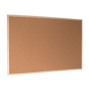 Korková tabuľa s dreveným rámom 90 x 60 cm