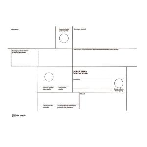 Obálky s doručenkou  doporučene  C5 formát, 50 ks/balenie