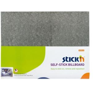 Samolepiace nástenka STICK N by Hopax, 46 x 58 cm, šedá