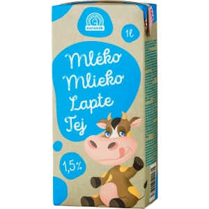 Polotučné mlieko Boni 1,5 %, 1 l