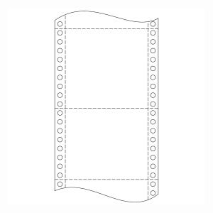 Papier do ihličkových tlačiarní, 54 g/m², 24 x 15,2 cm, 1+2 vrstvy