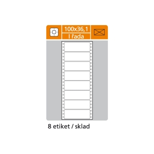 Tabelačné etikety S & K Label, 1-radové, 100 x 36,1 mm, 200 etikiet/bal