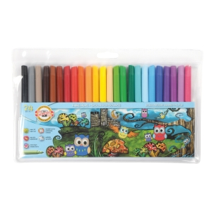 Školské fixy Koh-i-noor, mix 24 farieb