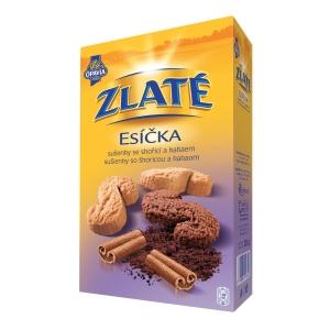 Sušienky Opavia Zlaté esíčka - škorica a kakao, 220 g