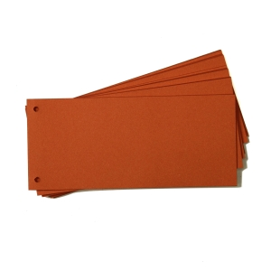 Rozdeľovače 1/3 (105 x 240 mm) Hit Office oranžové, balenie 50 kusov