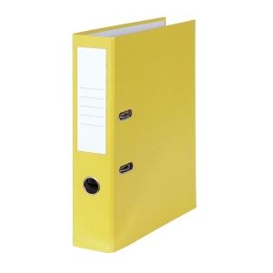 Pákový zakladač poloplastový, šírka chrbta 8 cm, žltý