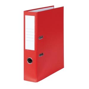 Pákový zakladač poloplastový, šírka chrbta 8 cm, červený