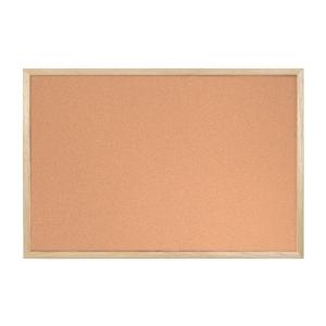 Korková tabula Bi-silque s dreveným rámom 120x90cm