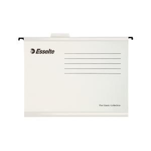 Závesné obaly Esselte Classic, pre A4 dokumenty, farba biela, balenie 25 ks