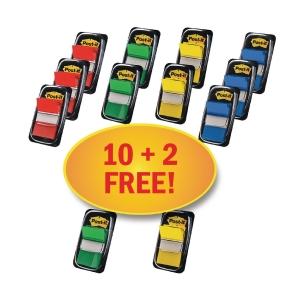 3M Post-it® 680 Záložky 25x44mm, 4 farby, bal. 10+2x50 lístkov