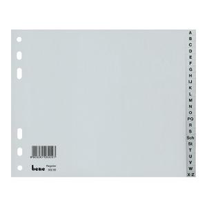 Rozdeľovače A - Z PP Bene 18 x 23 cm sivé