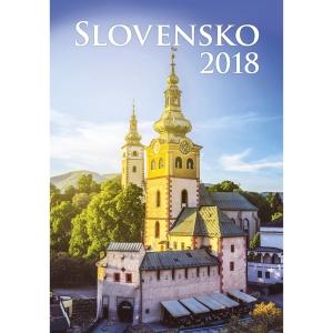 Slovensko - slovenské mesačné menné kalendárium, 14 listov, 31,5 x 45 cm