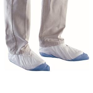 DELTAPLUS Jednorázové ochranné polypropylenové návleky na obuv, biele, 50 párov