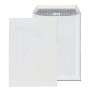 Samolepiaca biela taška s krycou páskou C4 (229x324 mm), 250ks/balenie