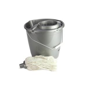 Čistiaci set - strapcový mop a plastové vedro 10 l
