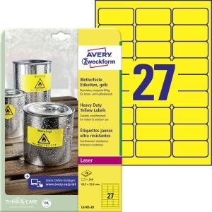 Odolné polyesterové etikety Avery Zweckform, rozmer 63,5 x 29,6  model L6105-20
