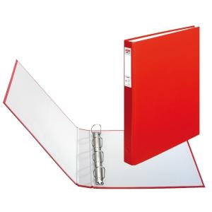 4-krúžkový zakladač Herlitz A4, PP, 4 cm, červený