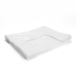 Mikroténové tašky biele, 50 kusov